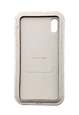 Beige Leather iPhone Case Color Front