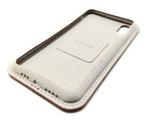 Beige Leather iPhone Case Color Side