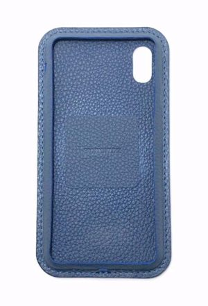 Blau Leder iPhone Case Color Vorderseite