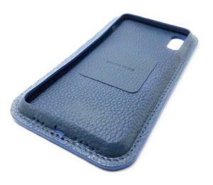 Blau Leder iPhone Case Color Seite