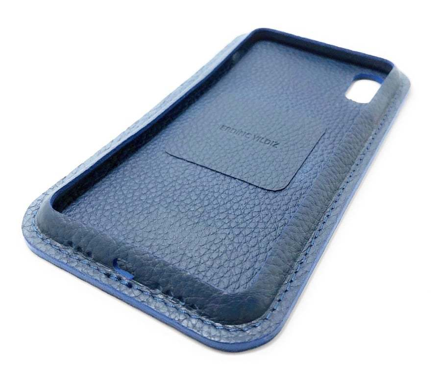 Blue Leather iPhone Case Color Side