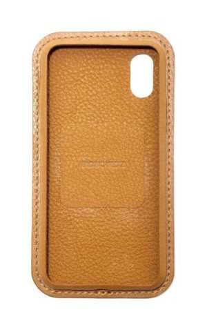 Brown Leather iPhone Case Color Front