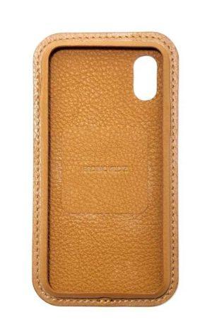 Kahverengi Deri iPhone Kılıf Color Ön