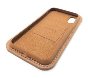 Brown Leather iPhone Case Color Side