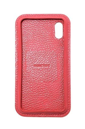 Rot Leder iPhone Case Color Vorderseite