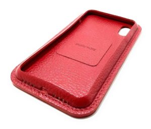 Rot Leder iPhone Case Color Seite
