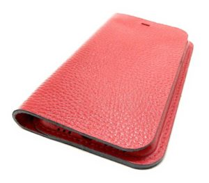 Red Leather iPhone Case Wallet Side