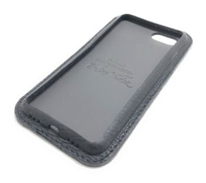 Black Leather iPhone Case Classic Side