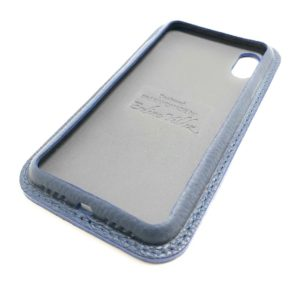 Blue Leather iPhone Case Classic Side