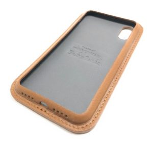 Brown Leather iPhone Case Classic Side