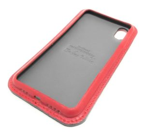 Red Leather iPhone Case Classic Side